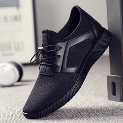 Men Knitting Mesh Breathable Flat Heel Shoes Sport Running Sneakers