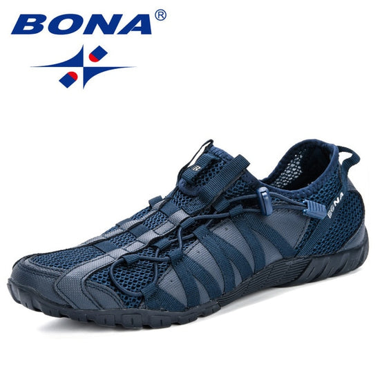 BONA Casual Shoes Men Lac-up Lightweight Breathable Walking Sneakers