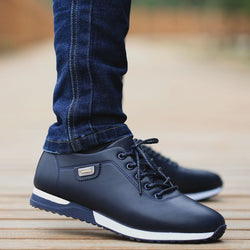 Men's PU Leather Business Casual Shoes for Man Outdoor Breathable Sneakers