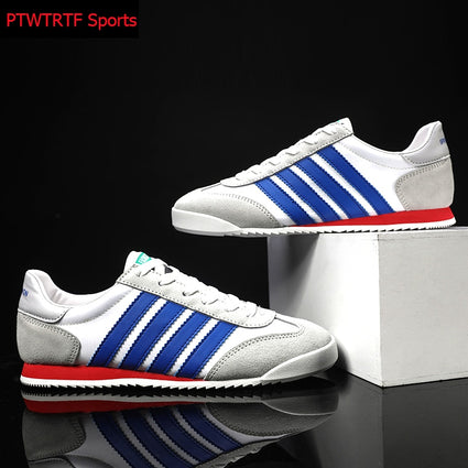 Running Shoes For Men Striped Canvas Breathable Man Sneakers