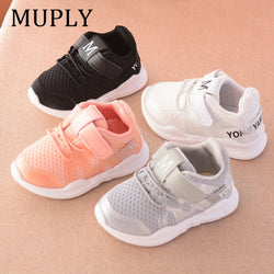 Spring new fashionable net Kids sneakers breathable sports running shoes