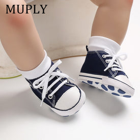 Baby Canvas Classic Sports Sneakers Newborn Baby Boys Girls