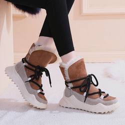 Rimocy Non-slip Warm Snow Boots Women Winter Cotton Padded Shoes