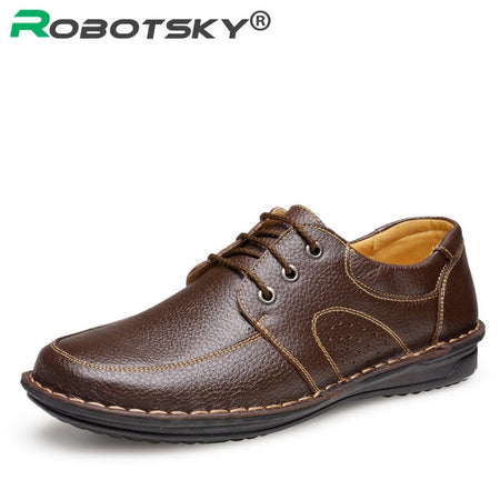 Merkmak New Fashion Men Casual Leather Shoes