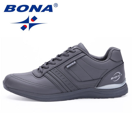 BONA Men Walking Shoes Lace Up Comfortable Men Sneakers