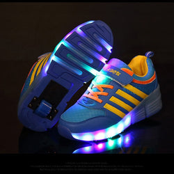 New Kids Light up Roller Cheap Sneakers
