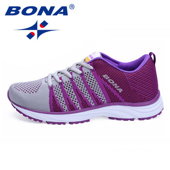 BONA Women Running Shoes Outdoor Jogging Mesh Lace up Sneakers