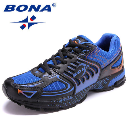 BONA Men Running Shoes Outdoor Jogging Lace up Sneakers