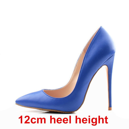 Brand Women Pumps Blue High Heels