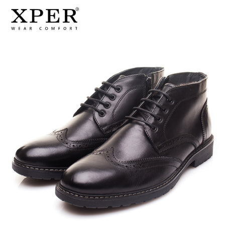 XPER Brand New Genuine Leather Men Boots Fashion