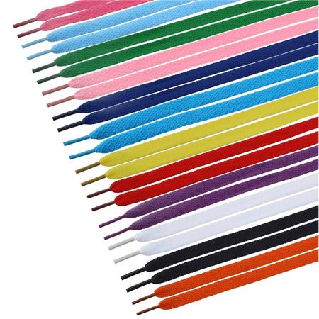TINKSKY 12 Pairs of Flat Shoelaces Shoe Laces