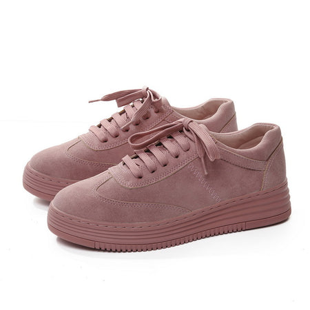 Genuine Leather Women Pink Sneakers Shoes
