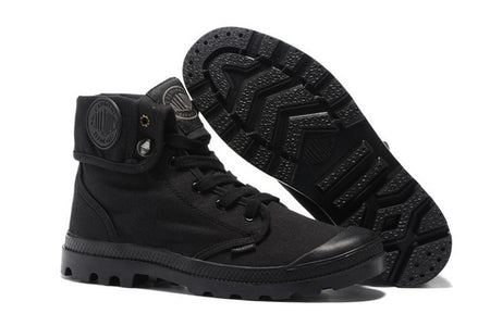 PALLADIUM Pallabrouse All Black Sneakers Men High-top Military Ankle Boots Canvas Casual Shoes Men Casual Sneakers