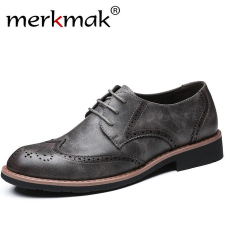 Merkmak New 2019 Men Leather Shoes