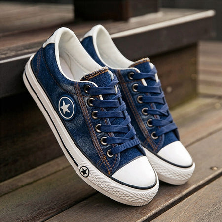 Women Fashion Sneakers Denim Canvas Shoes