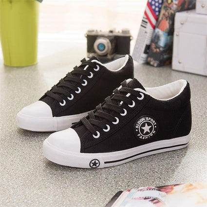 Summer Sneakers Wedges Canvas Shoes For Women