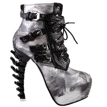 Sexy Punk Design Snake Pattern High Heel