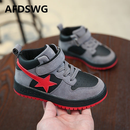 AFDSWG spring and autumn fashion black five-pointed star casual Shoes