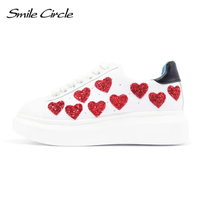 Buy Online Spring/ Autumn Women Fashion Heart Shoes