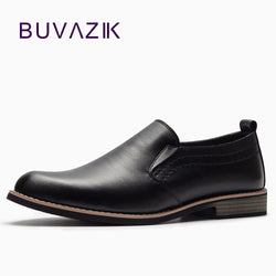 BUVAZIK Luxury Brand Leather Concise Men Shoes