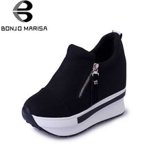 New Spring Autumn Fashion Platform Shoes With Zip