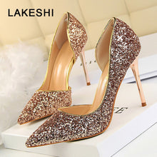LAKESHI Women Pumps Extreme Sexy High Heels