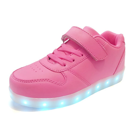 USB Charge New Simulation Sole Glowing Shoes For Kids