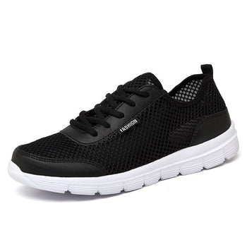 Couple Lover Fashion  Lace up Mens Mesh Flats Shoes 2019