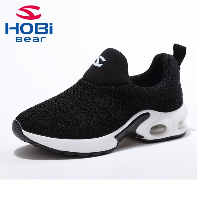 new style a6d81 8351d Kids Sport Shoes for Boys Girls Sneaker Shoes for Children Tennis Footwear  Running Trainers Red Black Slip on Hobibear GS3568