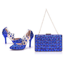 Crystal Queen Lady Wedding Shoes With Matching Bags