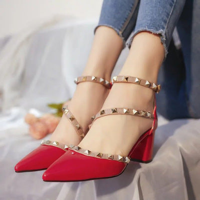 New Comfortable Middle Heels Quality Platform High Heels