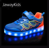 JawayKids USB charging glowing Kids LED Sneakers
