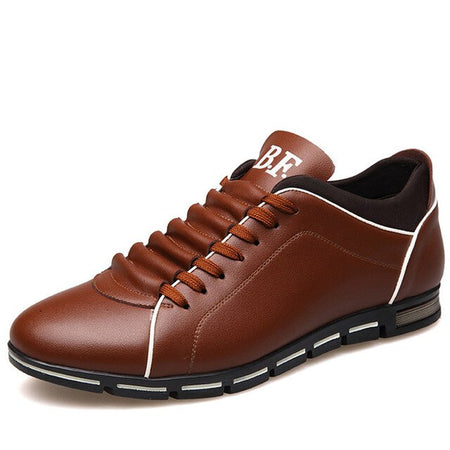 Men Shoes England Trend Leather Shoes