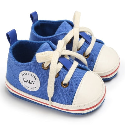 Newborn Baby Shoes Tollder Canvas Shoes Lace-up Baby Girls Sneaker 0-18 Months