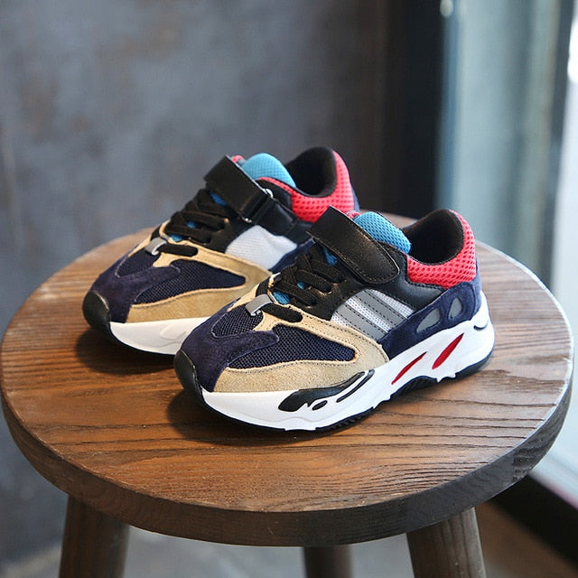 4bf00cf5598 Boys Girls Fashion Brand Sneakers Children School Sport Trainers Baby  Toddler Little Big Kid Casual Skate