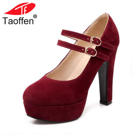 TAOFFEN women stiletto high heel shoes