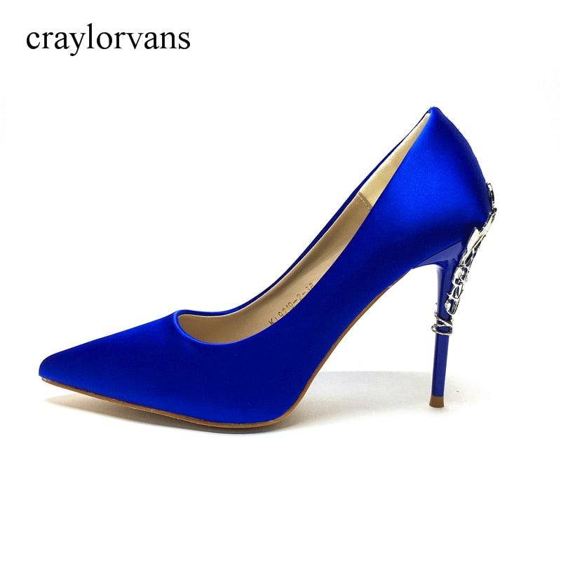 ec40f274a17 2018 XUEZI Sexy Blue High Heels Wedding Shoes for Bride Women