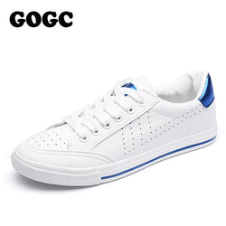24db6e494782 GOGC Soft White Sneakers Women Breathable Moccasins Womens Hollow Out Shoes  Lace up Women Summer Shoes