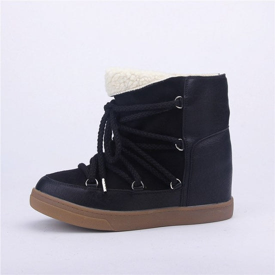 Smile Circle Winter Boots Women Lace-up Casual Shoes