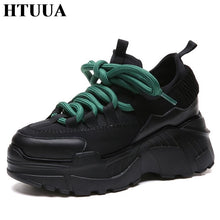 New 2019 Spring Autumn Ladies Black Sneakers shoes