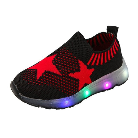 usb charging kids led light casual sneakers
