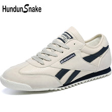 Hundunsnake Grey Leather Women's Running Shoes For Women Sneakers Woman Sports Shoes Men Sport Shoes Woman Walking Athletic T622