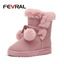 FEVRAL Quality Woman Boots Round Toe Yarn Elastic Ankle Boots