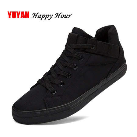 Sneakers Mens Canvas Shoes Fashion Cool Street Sneakers Breathable Men's Casual Shoes Male Brand Classic Black Sneakers KA241