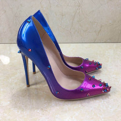 Rivet High Heeled Lady Pumps