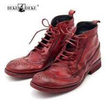 100% Luxury Handmade Cowhide Leather Lace Up Men's Safety Shoes
