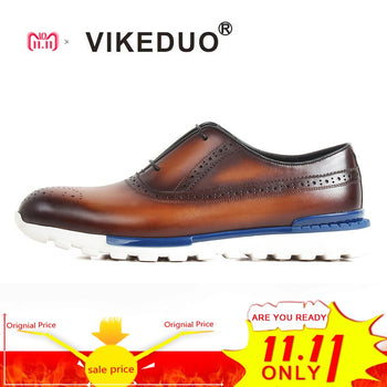 Vikeduo 2020 Summer Handmade Shoes For Men