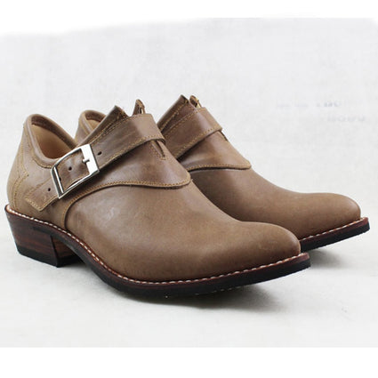 Buckle Safety Leather Cowboy Shoes For Men