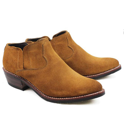 Men's Cowhide Cowbow Hand Stitched Shoes – 100% Genuine Leather