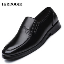 Luxury Brand Men Leather Office Work Flat Shoes